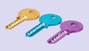 Keys to effective leadership: listening, learning and leading